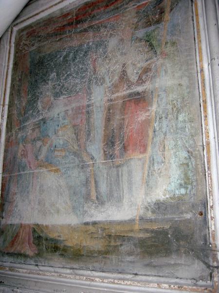 Tableau : Sainte Anne et la Vierge avec un pape