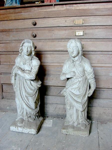 2 statues : Vierge et saint Jean de Calvaire