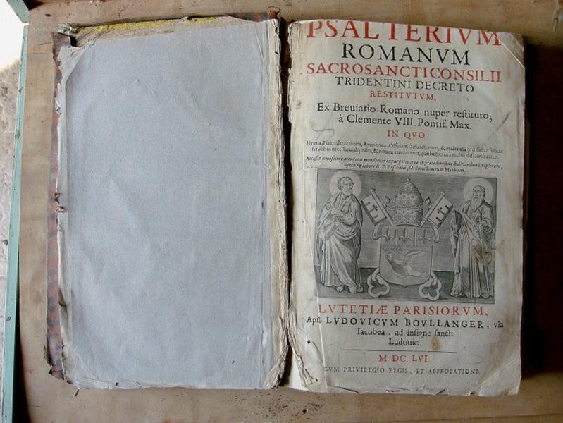 Livre liturgique : Psautier
