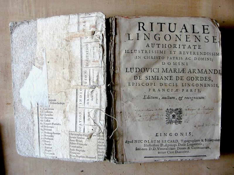 Livre liturgique : Rituel
