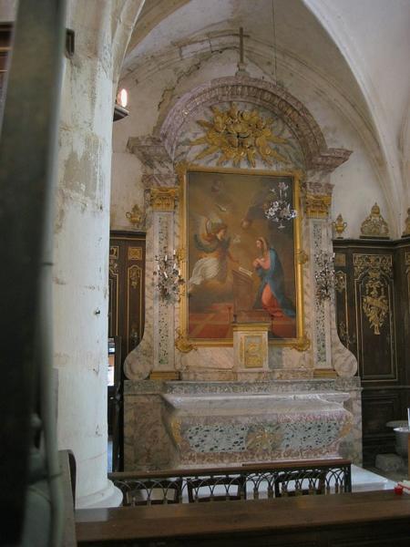 Autels et retables de la Vierge et du Saint-Sacrement