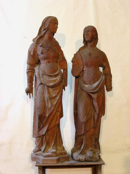 2 statues : Saintes femmes