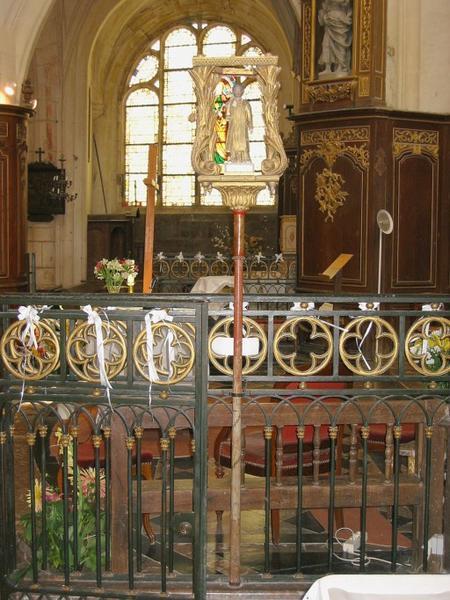 Bâton de procession de confrérie : Saint Vincent