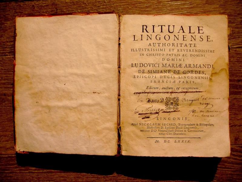Livre liturgique : Rituel lingon