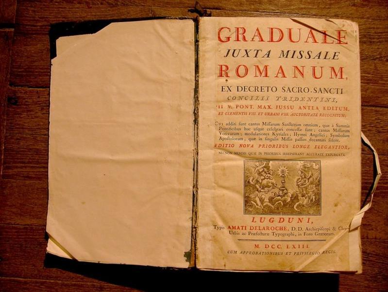 Livre liturgique : Graduel romain