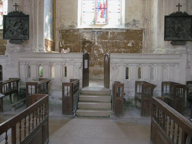 Clôture de la chapelle des fonts baptismaux