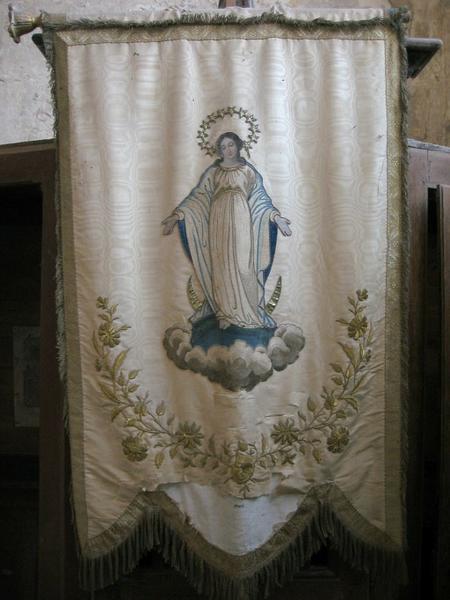 Bannière de procession : Vierge en gloire