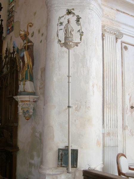 Bâton de procession de confrérie : Saint évêque