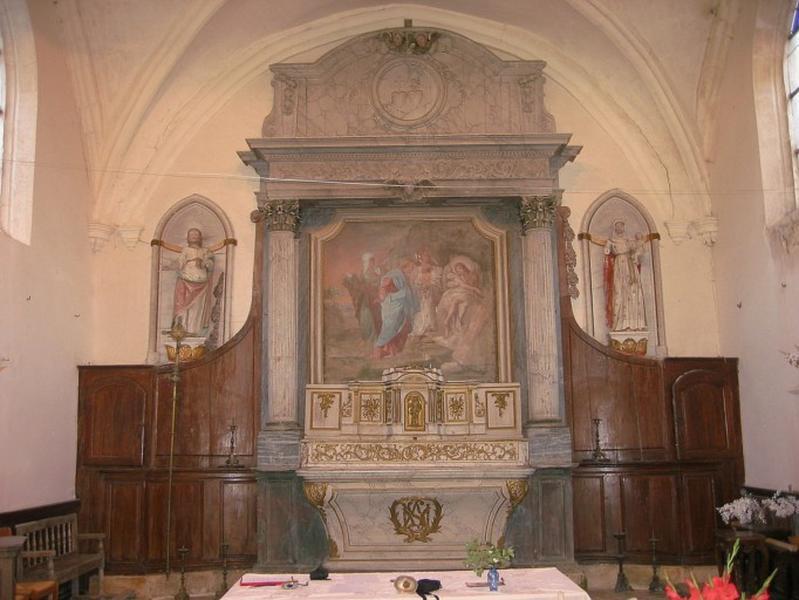 Maître-autel ; retable ; exposition