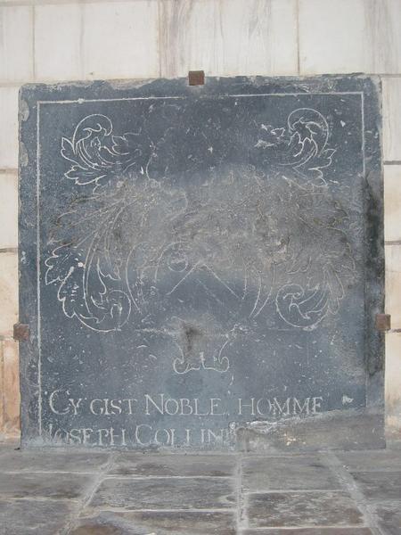 Dalle funéraire de Joseph Collinet