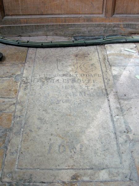 Dalle funéraire d'Odard Devilleprouvée et dame Anne Masson