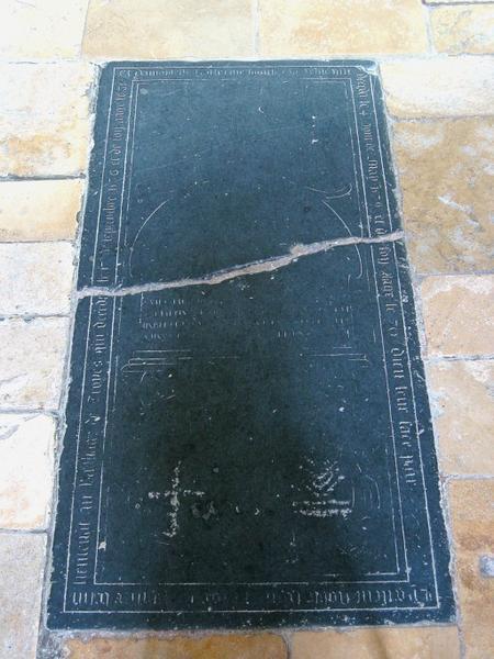 Dalle funéraire de Philippe Belin et Catherine Boucher, sa femme