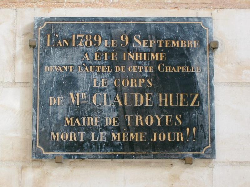 Dalle funéraire de Claude Huez