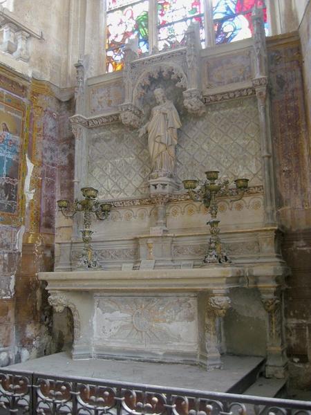 Autel et retable du Sacré-Coeur, peinture monumentale