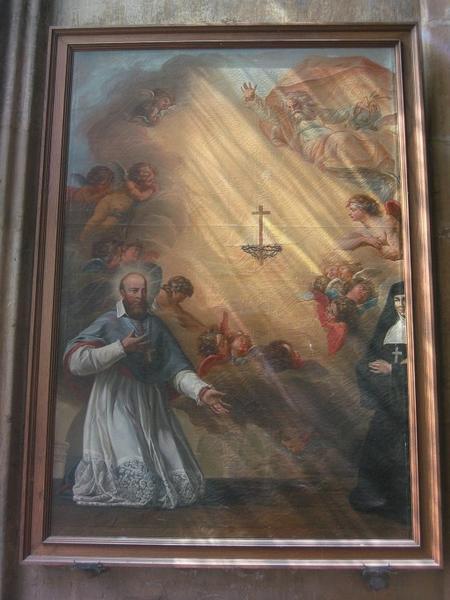 Tableau : Saint et religieuse en oraison (scène non identifiée)