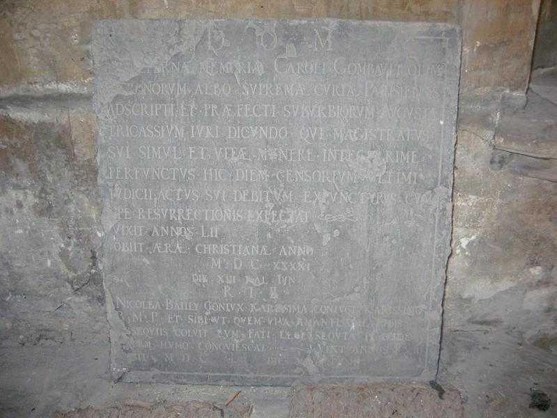 Plaque commémorative de Charles Combault et Nicolas Bailly