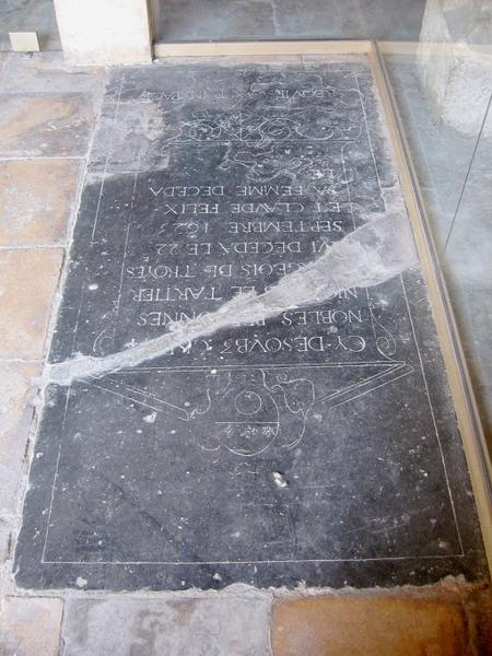 Dalle funéraire de Nicolas le Tartier et Claude Félix, sa femme