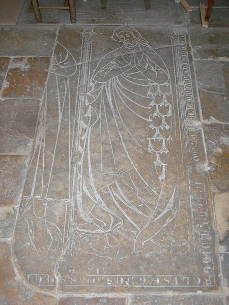 Dalle funéraire de dame Félise