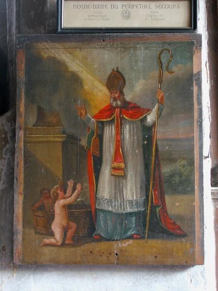 2 panneaux peints : Saint Nicolas
