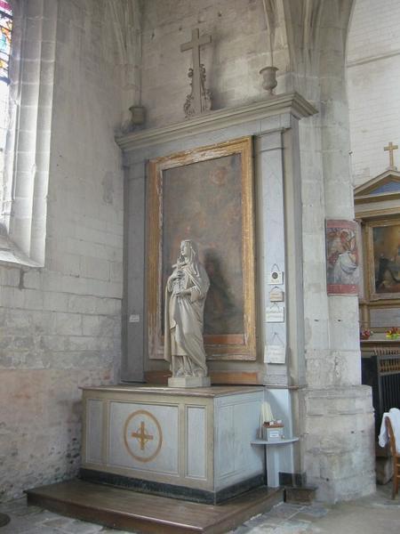 Autel et retable de la 3e chapelle nord