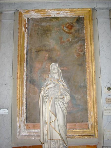 Tableau d'autel : Saint remettant son âme au Christ (?)