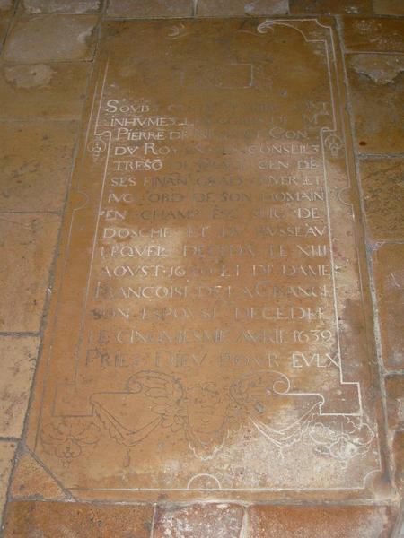 Dalle funéraire de Pierre Nevelet et Françoise de la Grange