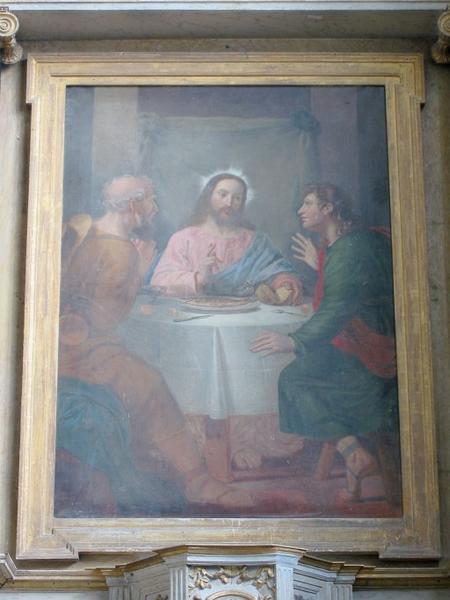 Tableau d'autel : Pèlerins d'Emmaüs