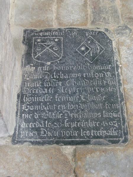Dalle funéraire de Blaise Deschamps et Claude Gombaut, sa femme