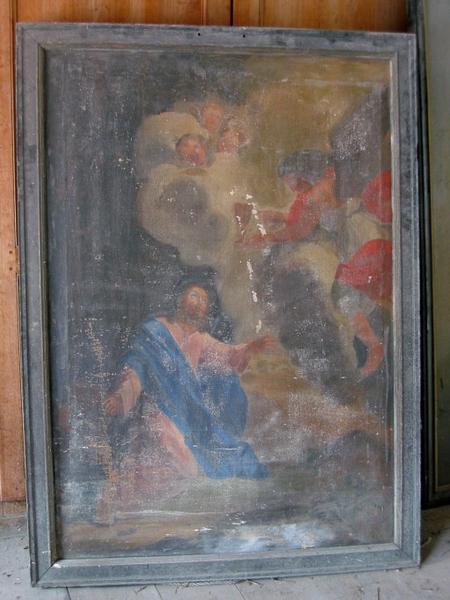 Tableau : Christ au Jardin des oliviers (?)
