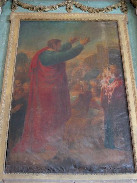 Tableau d'autel : Prédication de saint Paul