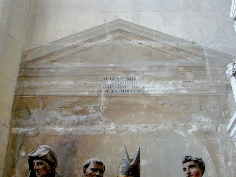 Peinture monumentale : inscription