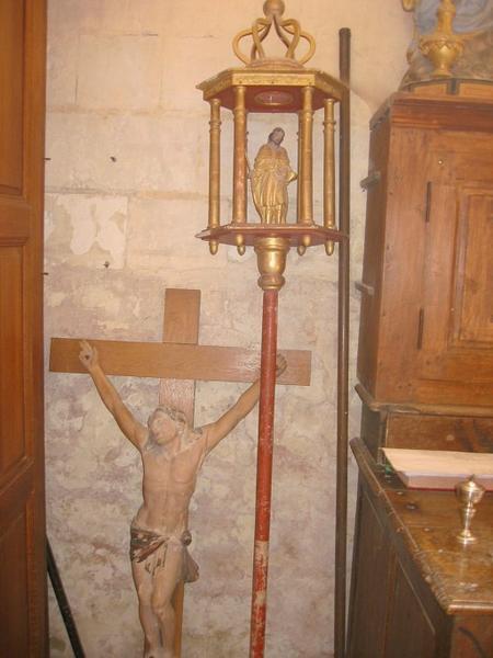 Bâton de procession : Saint Hubert