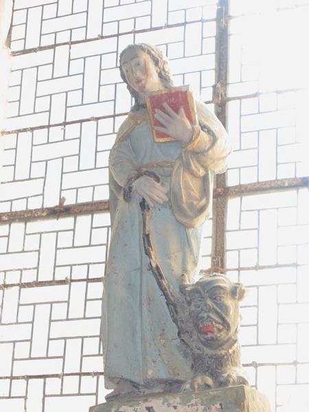 Statue : Sainte Brigitte (sainte Brigide d'Irlande ?)