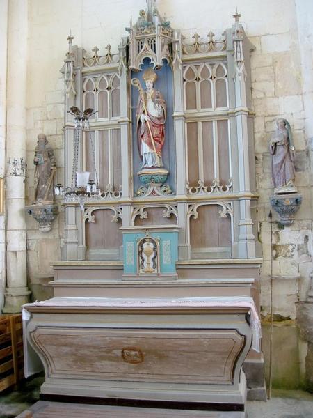 Autel et retable secondaire : Saint Augustin (?)