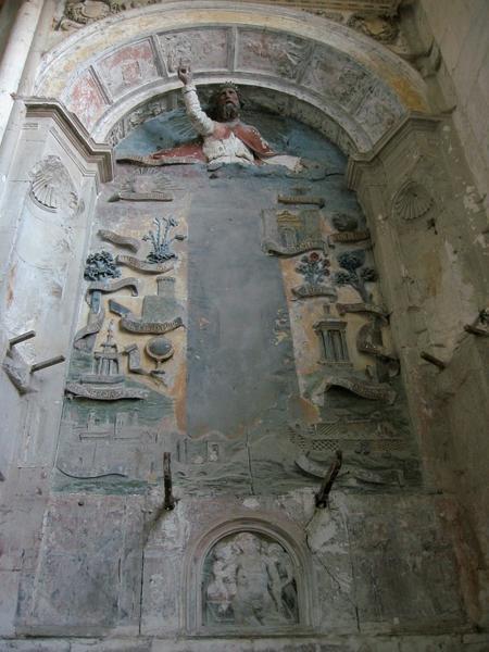 Haut-relief de retable : Litanies de la Vierge, Dieu le Père