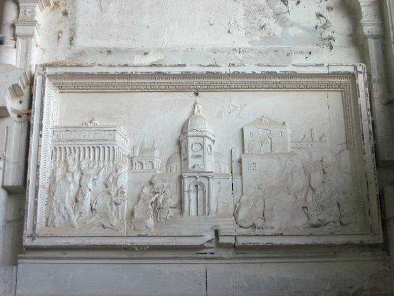 Bas-relief de retable : Enfance du Christ (?)