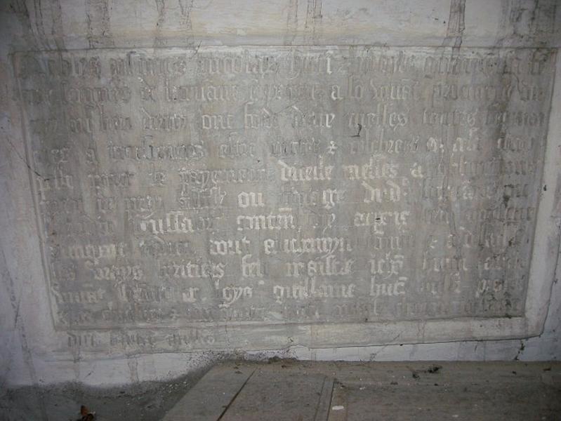 Plaque commémorative : plaque obituaire de Nicolas Hutin et Nicole Girardin