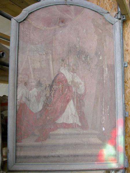 Tableau : Saint Charles Borromée (?)