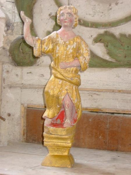 2 statuettes : Anges