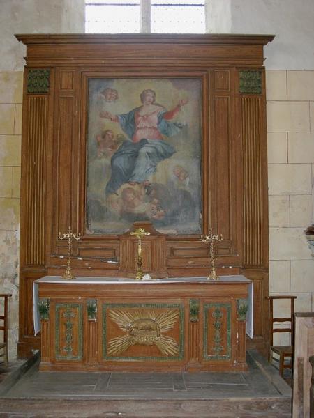 Retable, autel, degré d'autel (chapelle nord)