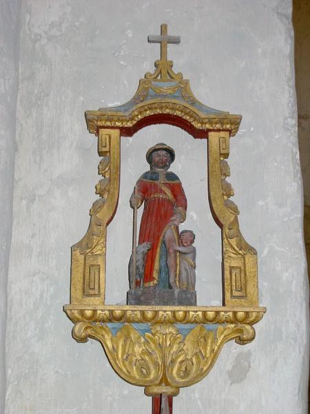 Bâton de procession de confrérie : Saint Roch