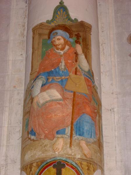 Peinture monumentale : Saint Jacques, saint André