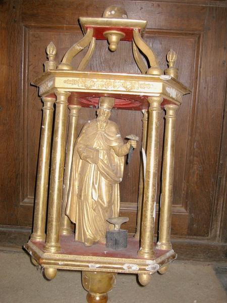 Bâton de procession (statuette) : Saint Éloi