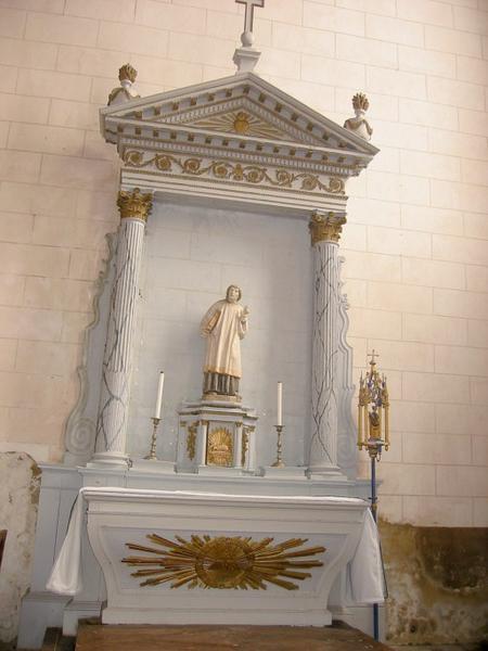 Autel et retable de saint Flavit