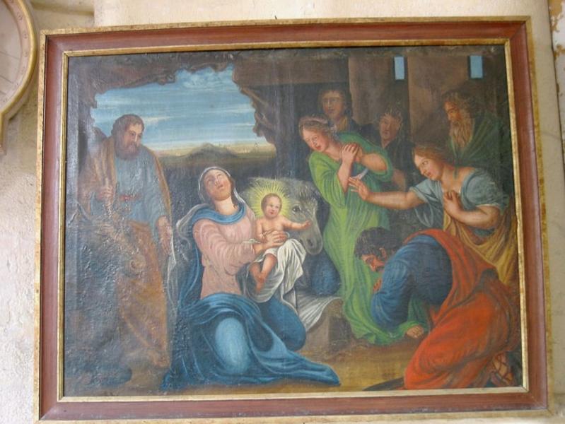 Tableau : Adoration des bergers