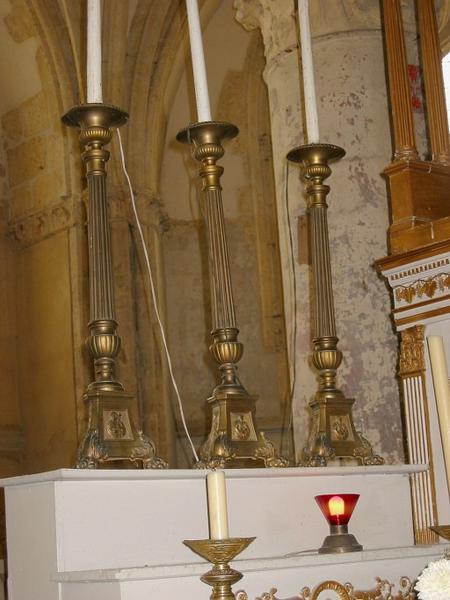 6 chandeliers d'église
