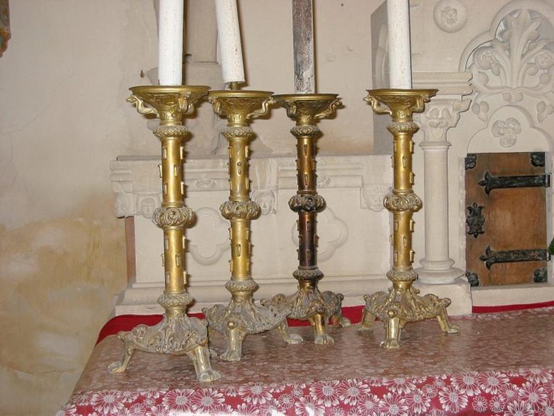 4 chandeliers d'église