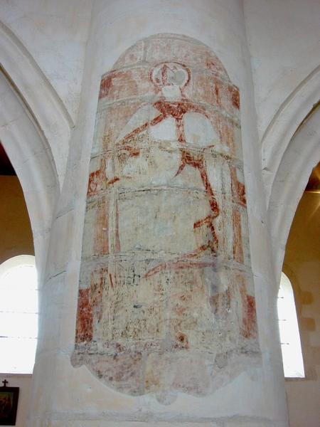 Peinture monumentale, litre : saint évêque