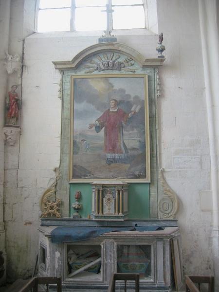 Retable et tabernacle de l'autel Saint-Vincent