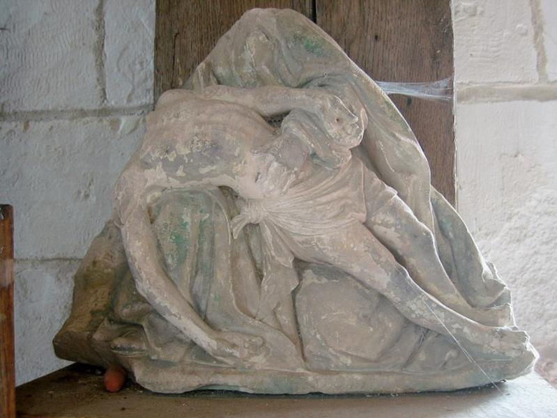 Groupe sculpté (?) : Vierge de Pitié